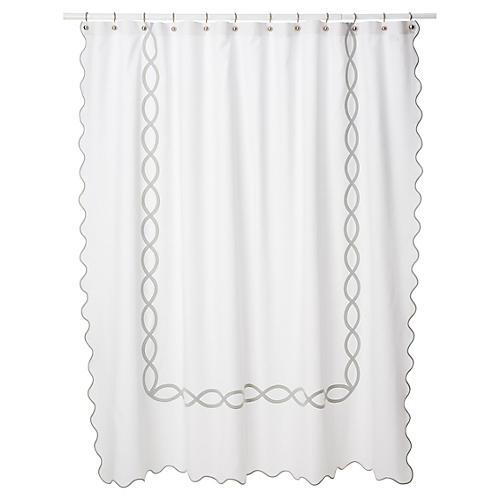 Gianna Shower Curtain, Silver
