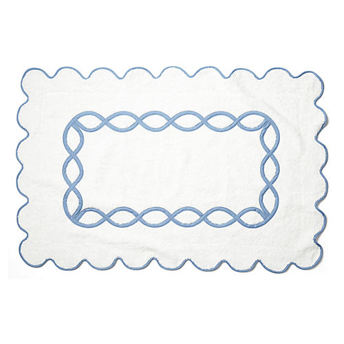 Gianna Bath Mat, Blue