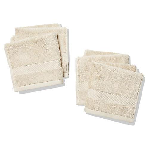 Merano Washcloths, Khaki