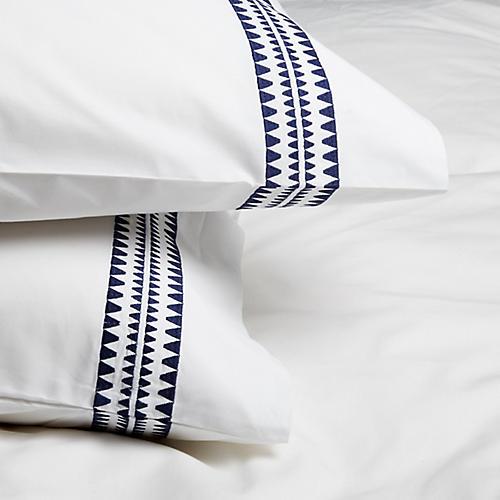 S/2 Seychelles Standard Pillowcases, Navy