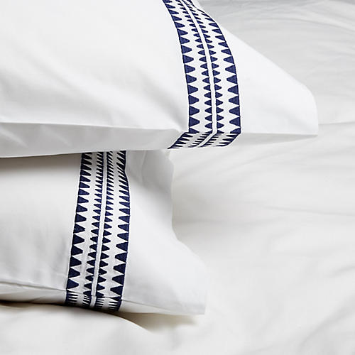 S/2 Seychelles Standard Pillowcases, Navy