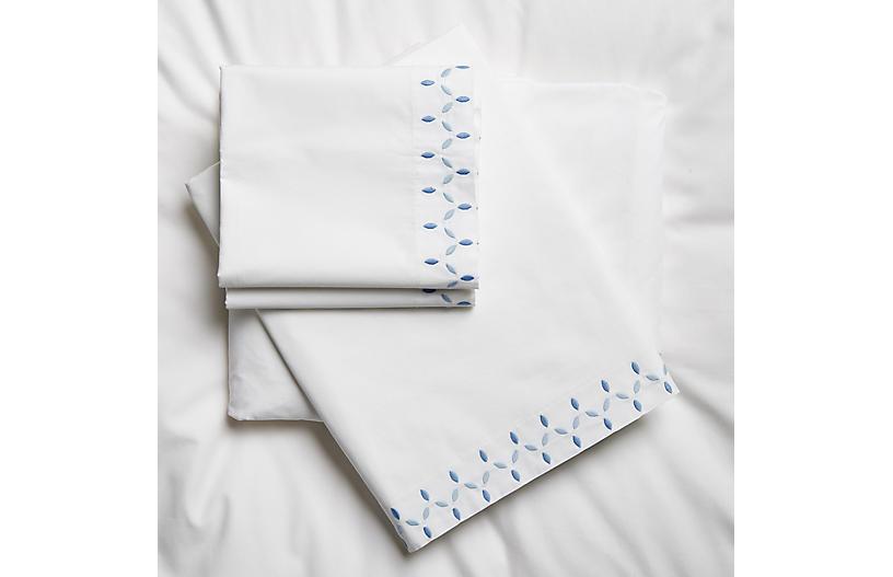 Petala Sheet Set, Azure/Blue