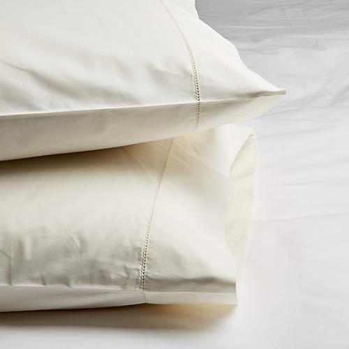 S/2 Vittorio Pillowcases, Ivory