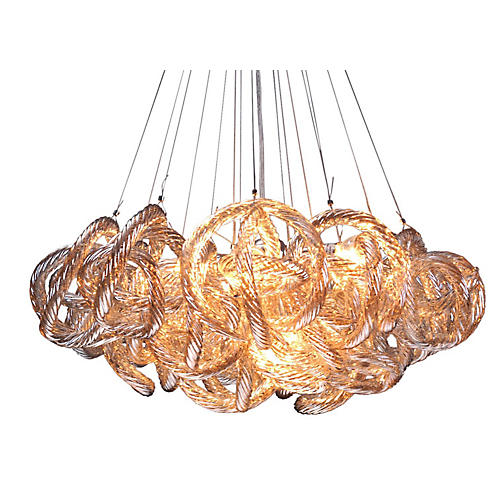 "18"" Infinity Chandelier, Champagne"