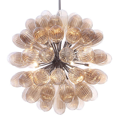 "36"" Globa 20-Light Pendant, Champagne"