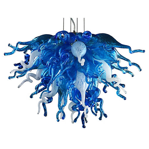 Blue Love Chandelier, Multi