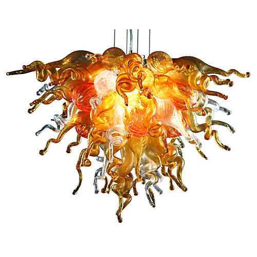 Color Select Chandelier, Amber