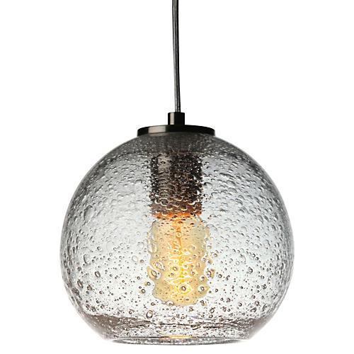 Art Glass Pendant, Clear
