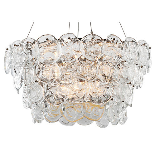 12-Light Prelude Chandelier, Nickel