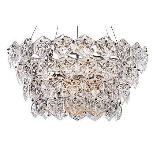 12-Light Overture Chandelier, Nickel