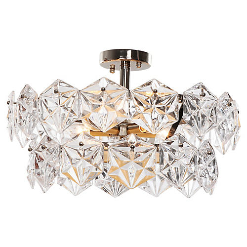 Overture Semi Flush Mount, Nickel