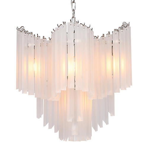 Opus Chandelier, Brushed Nickel