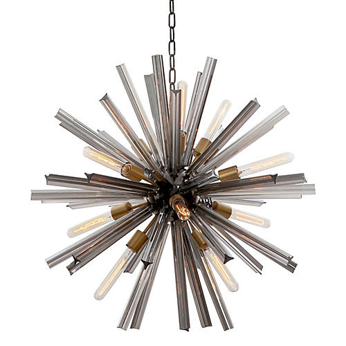 "30"" Eos Chandelier, Pearl Black"