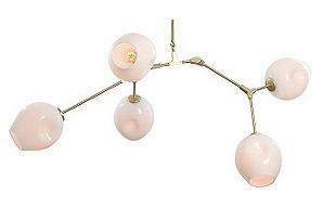 5-Light Globular Chandelier, White*