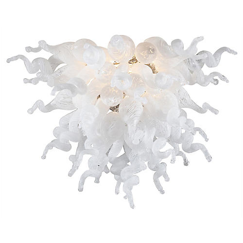 ColorSelect Sconce, Opalescent Clear/Nickel