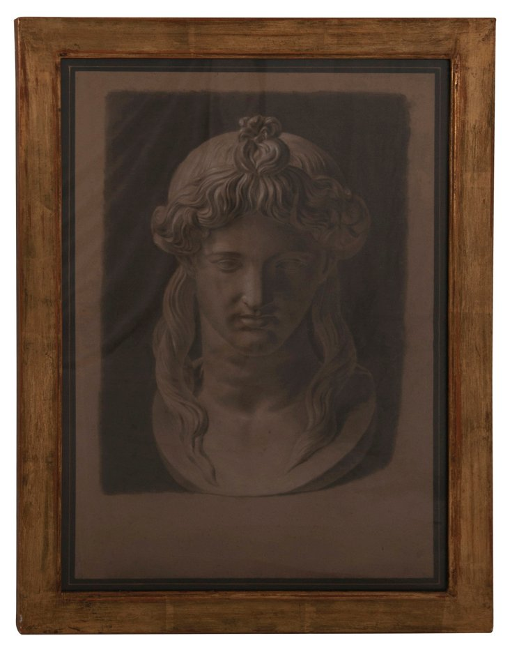 Framed Classical Bust Print