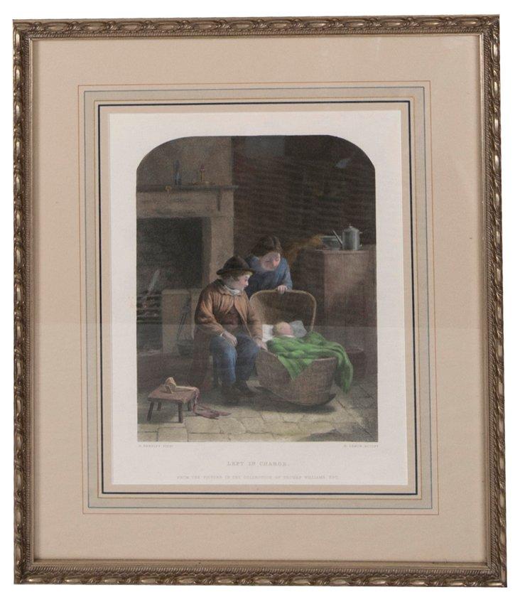 Framed Vintage Lithograph