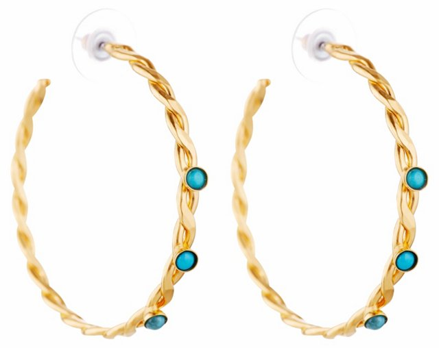Braided Turquoise Hoops