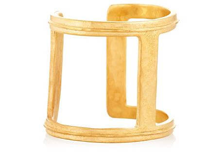 22K Gold-Plated Bar Cuff