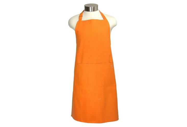 Cotton Apron, Orange