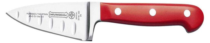 Chef's Knife w/ Hollow Edge, Red Handle