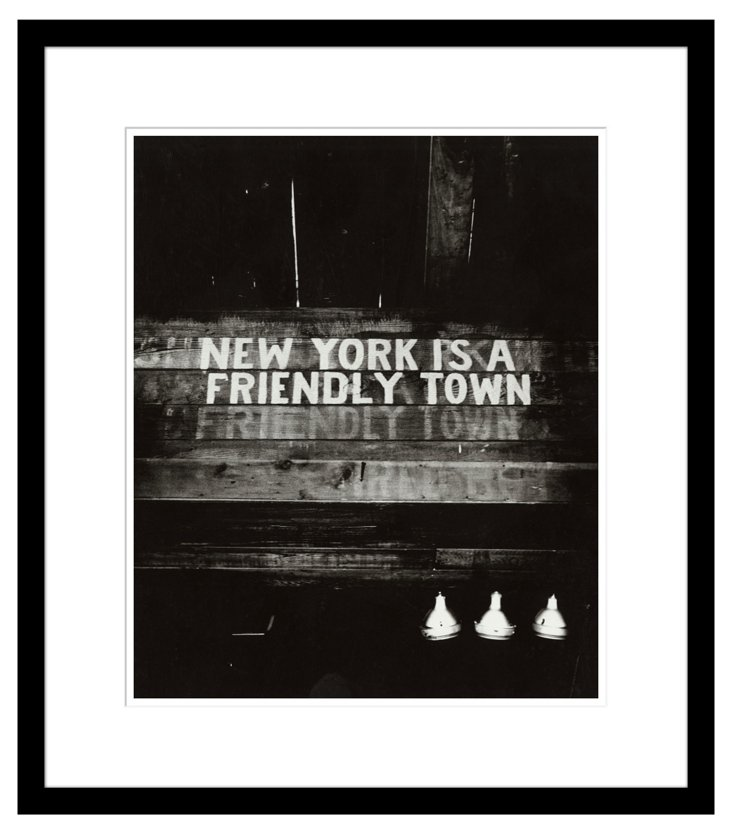 Weegee, NYC is a Friendly Town, 1945