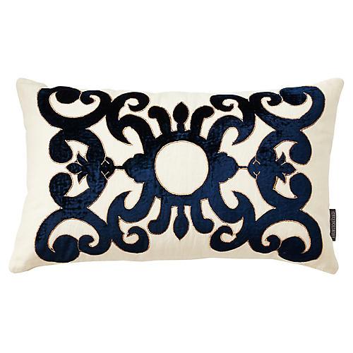 Somerset 12x20 Linen Pillow, Ivory