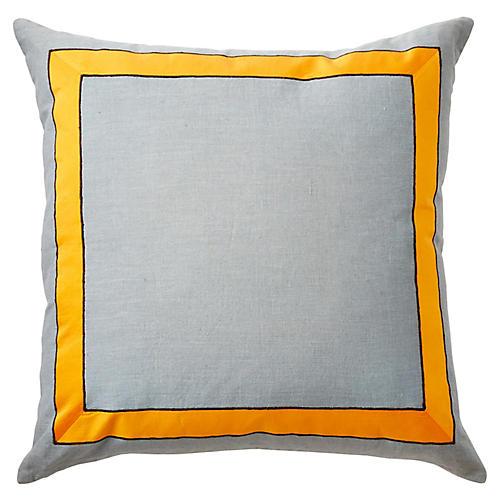 Lyon 22x22 Pillow, Gray
