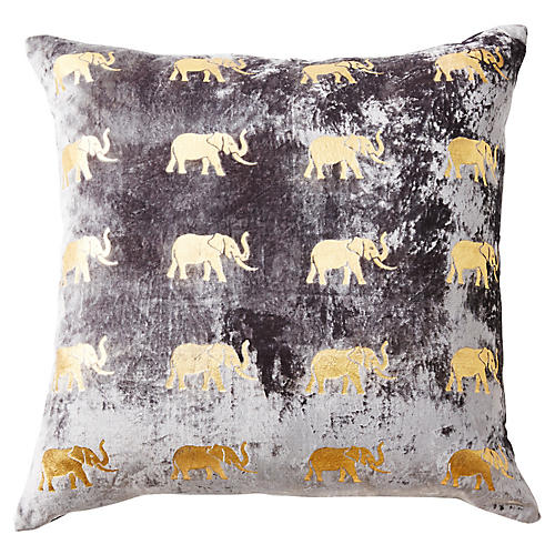 Meru 22x22 Pillow, Gray