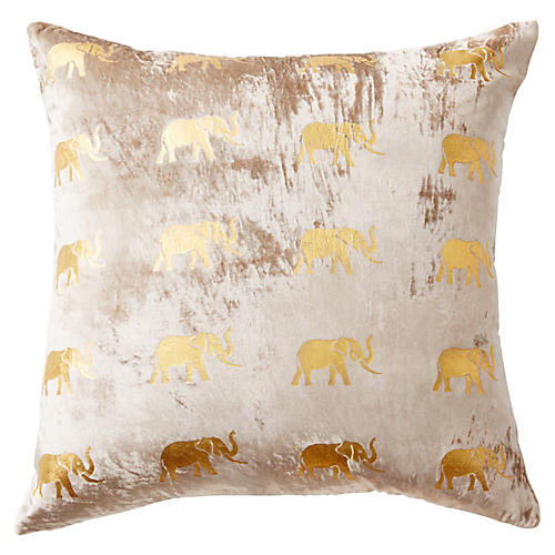 Meru 22x22 Pillow, Blush