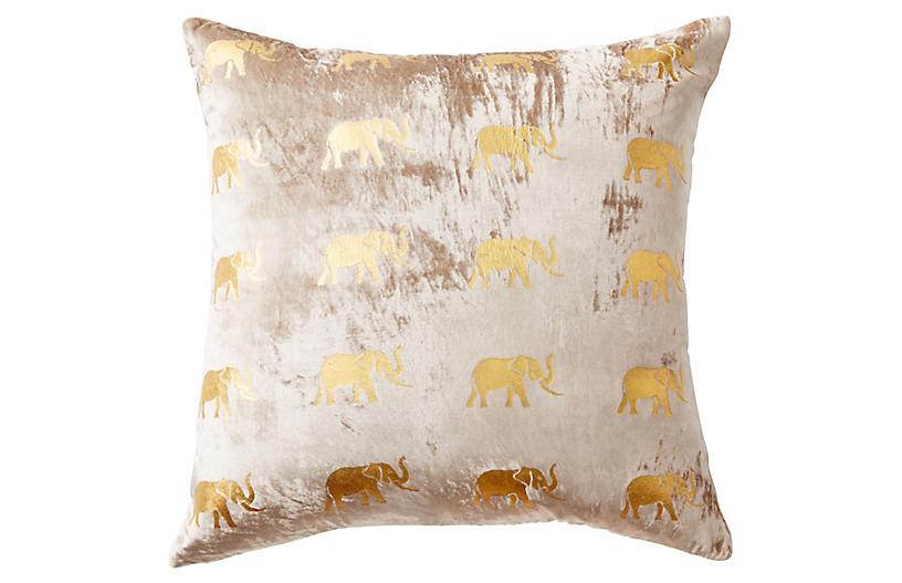 Meru 22x22 Pillow, Blush