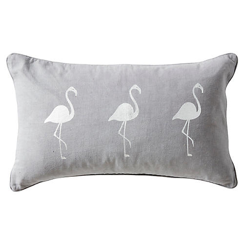 Andalucia 14x22 Linen Pillow, Gray