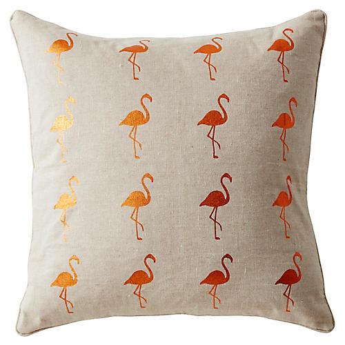Andalucia 22x22 Linen Pillow, Beige