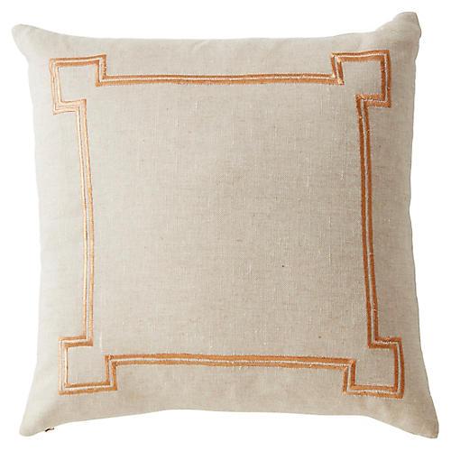 Aria 22x22 Linen Pillow, Beige