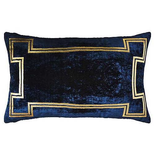 Aria 14x22 Lumbar Pillow, Blue