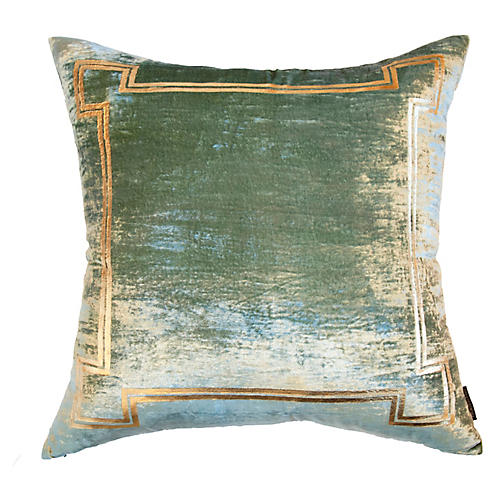 Aria 24x24 Pillow, Seafoam