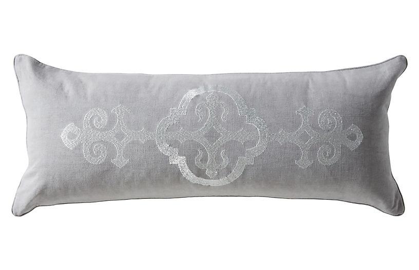 Fitzrovia 14x32 Lumbar Pillow, Gray