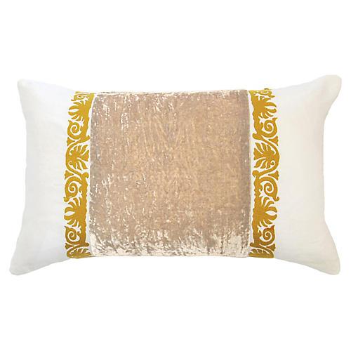 Francesca 14x22 Lumbar Pillow, Taupe Linen
