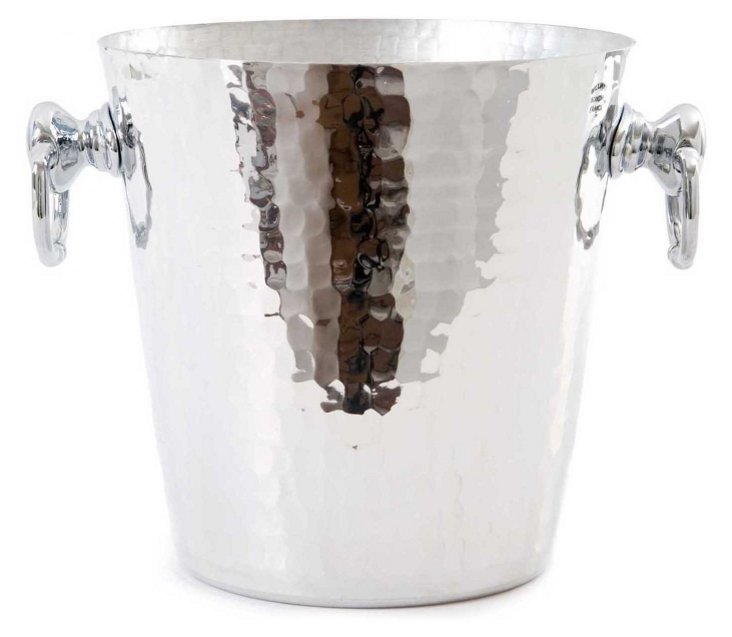 Hammered Aluminum Champagne Bucket