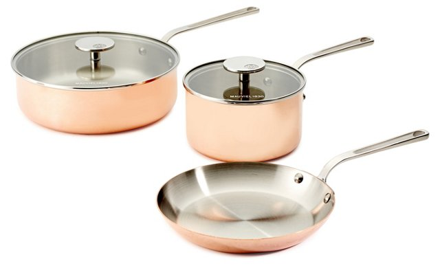 5-Pc Cookware Set, Copper
