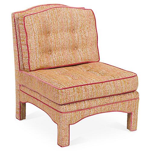 Julien Tufted Slipper Chair, Confetti