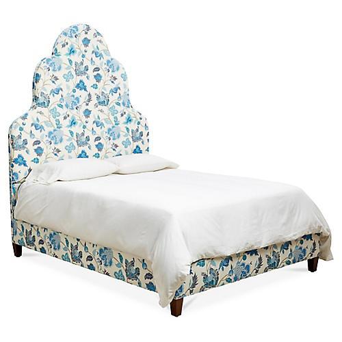 Carris Panel Bed, Enchanted Vine Linen