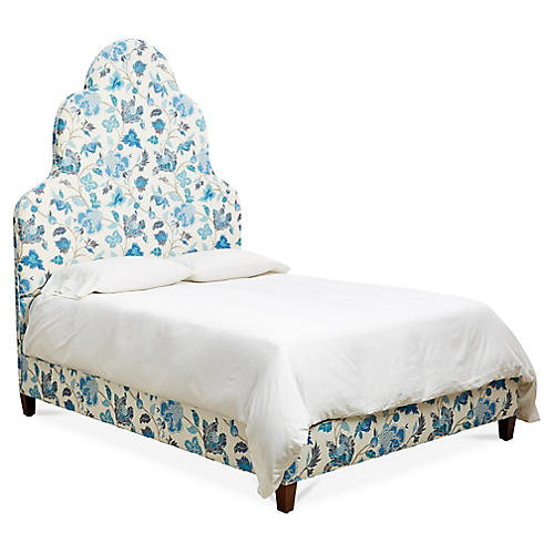 Carris Panel Bed, Enchanted Vine Linen
