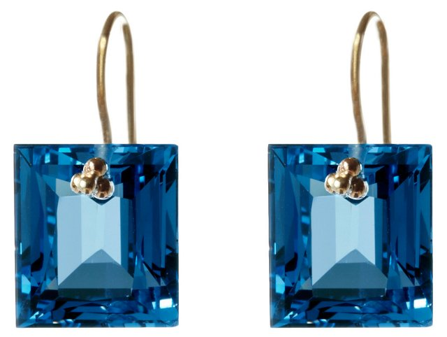 14K Yellow Gold & London Topaz Earrings