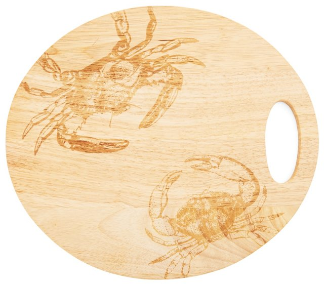Oval Cutting Board, Crab