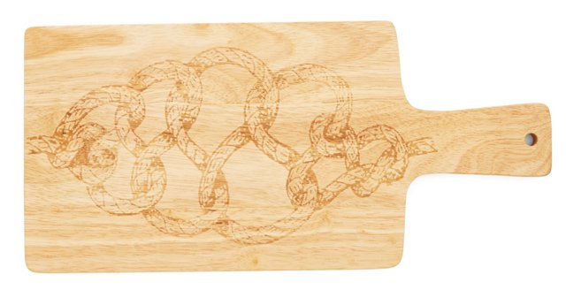 Rope Motif Wooden Cutting Board