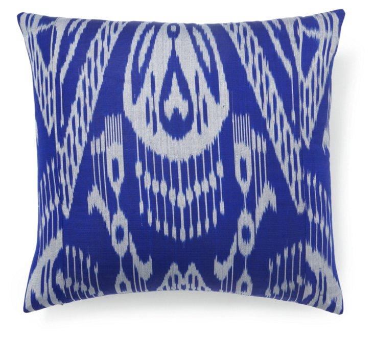 Soothe 20x20 Silk Pillow, Royal Blue