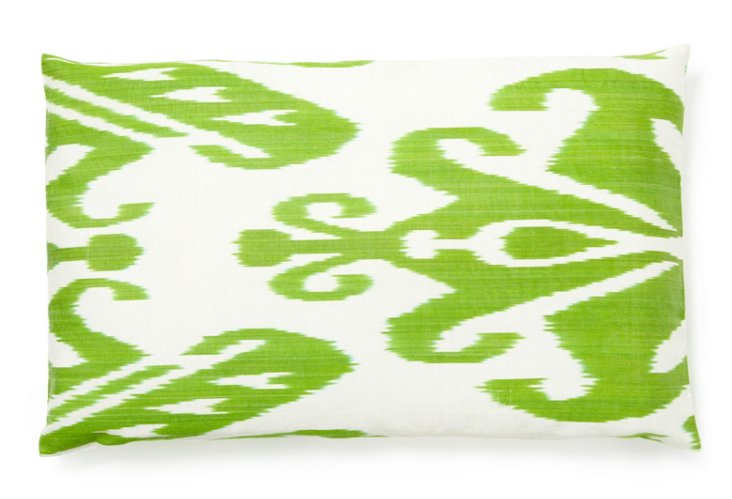 Landscape 14x24 Silk Pillow, Green