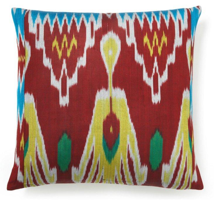 Trade 20x20 Silk Pillow, Multi