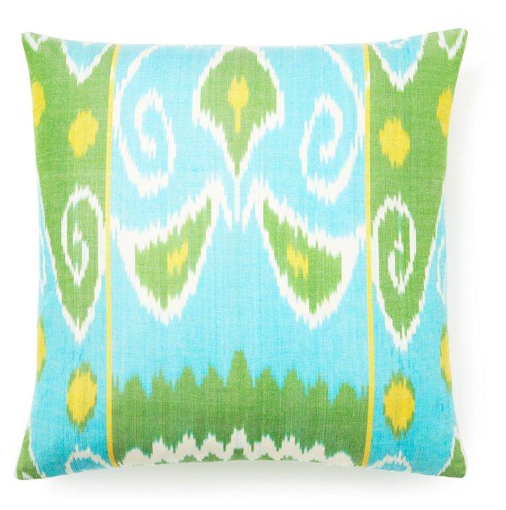 Spring 20x20 Silk Pillow, Multi